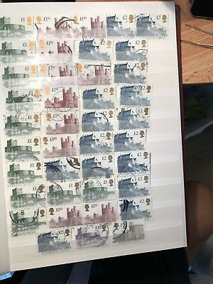 QE11 1992 40 Used Castle Stamps