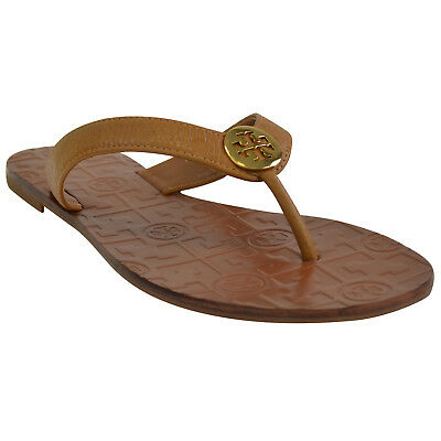 a01fa53a84de NEW Tory Burch Thora Leather Thong Sandals in Royal Tan 9