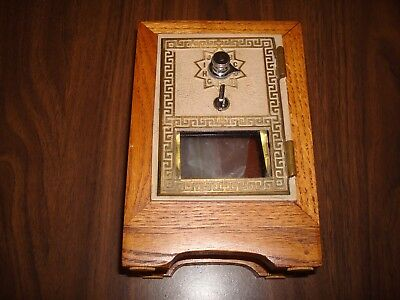 Vintage Post Office Box Door Bank Neat Piece in Great Condition