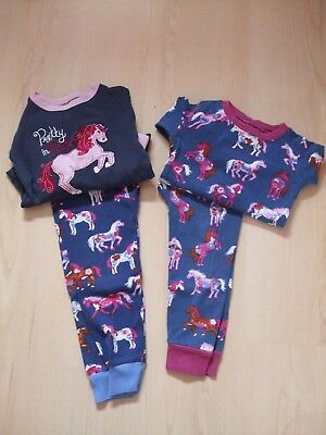 """Hatley Cotton """"horse"""" Snuggle Fit Pyjamas X 2  Age 12-18 Mths (Labelled 2 Years)"""