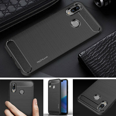 Premium Slim Shock Proof Soft Carbon Fibre Protective Case Cover for Honor Play