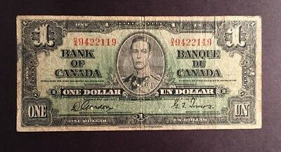 Bank Of Canada $1 Banknote 1937 Pic58d