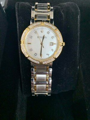 Bulova 98R260 Women's 30mm 24 Diamonds Accented Two-Tone Watch