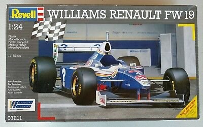 Revell Williams Renault FW19 Model Kit 1/24 Scale P/N 07211 New In Box Skill 3