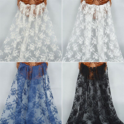 1 Yard Guipure Multi-colored Embroidery Lace Fabric for Wedding Dress Making