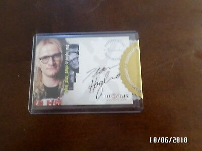AUTHENTIC AUTOGRAPHED Insert Card DEAN HAGLUND as RIchard Kangly in X FILES