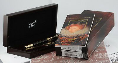 Fountain Pen Montblanc Patron Of Art Elizabeth I 1449/4810 Complete Box & Papers