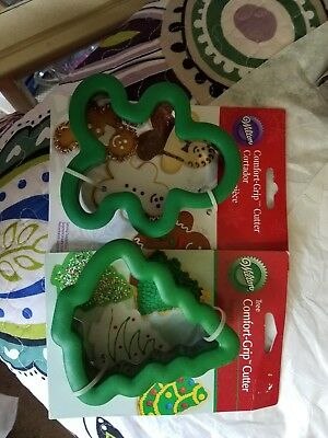 Wilton Comfort Grip Snowman Ghost Cookie Cutters Tree Tiny