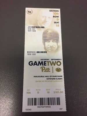 Pittsburgh Panthers Penn State Nittany Lions MINT Ticket 9/8/18 2018 NCAA Stub