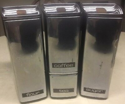 Set Of Four Mid Century Lincoln Beautyware Cannisters