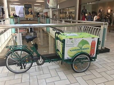 Mobile Vending Cart tricycle, great for beverage and food vending. Commercial.