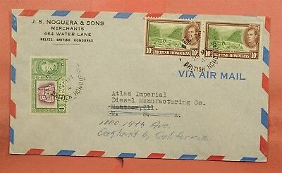 1948 British Honduras Belize Airmail To Usa Forwarded