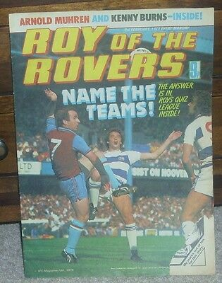 ROY OF THE ROVERS 3rd February 1979 Football Family Robinson Tommy's Troubles