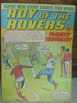ROY OF THE ROVERS 16th June 1979 Tommy's Troubles The Hard Man Mike's Mini Men