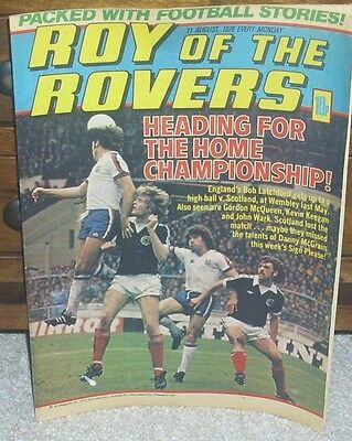 ROY OF THE ROVERS 11th August 1979 Tommy's Troubles The Hard Man Mike's Mini Men