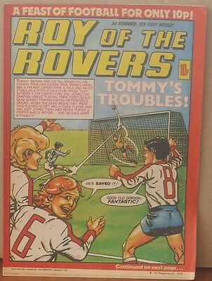 ROY OF THE ROVERS 3rd November 1979 Tommy's Troubles The Hard Man MIghty Mouse