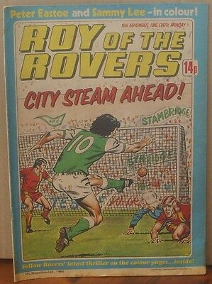 ROY OF THE ROVERS  15th November 1980 The Hard Man MIghty Mouse Tommy's Troubles