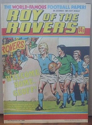 ROY OF THE ROVERS  6th December 1980 The Hard Man MIghty Mouse Tommy's Troubles