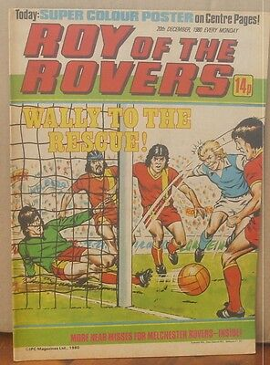 ROY OF THE ROVERS  20th December 1980 The Hard Man MIghty Mouse Tommy's Troubles