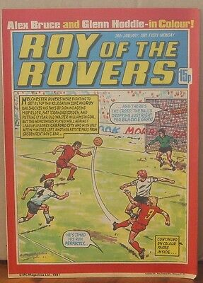 ROY OF THE ROVERS  24th January 1981 The Hard Man MIghty Mouse Tommy's Troubles