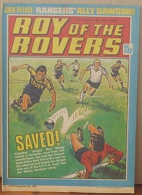 ROY OF THE ROVERS  31st January 1981 The Hard Man MIghty Mouse Tommy's Troubles