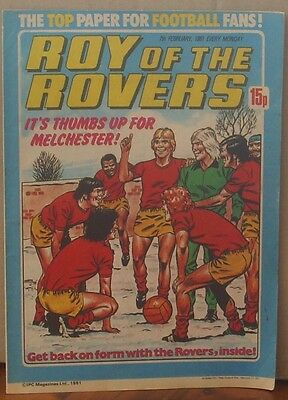 ROY OF THE ROVERS  7th February 1981 The Hard Man MIghty Mouse Tommy's Troubles