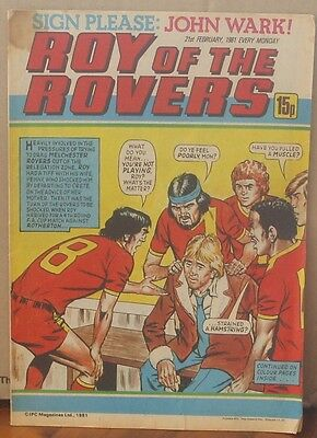 ROY OF THE ROVERS  21st February 1981 The Hard Man MIghty Mouse Tommy's Troubles