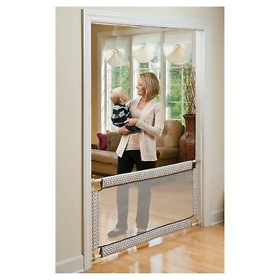 Retractable Baby Safety Gate Toddler Infant Soft Wide Gate Doorway Pet Dog Fence