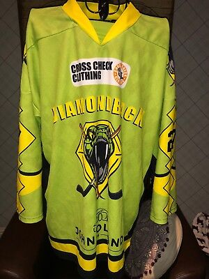 Diamondback Ice Hockey Jersey Signed By Ben Bowns Cardiff Devils Size Small #27