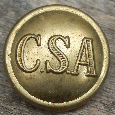 "CSA 1"" Size Uniform Tunic BUTTON Confederate States of America C.S.A. NOT Dug-UP"