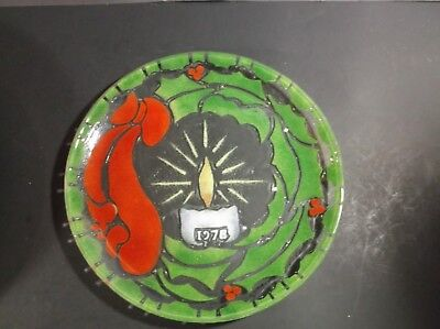 Silva Art Glass Christmas plate 1978