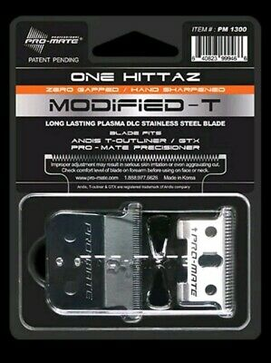 Out of Stock Hittaz Deep Tooth Modified Blade Fits Andis T-Outliner GTX 0-Gapped