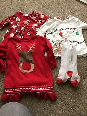 Girls Christmas Clothes bundle Age 9-12 Months