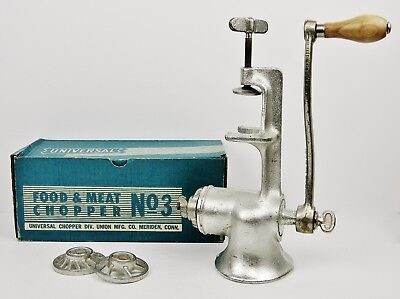 """Antique 1900's """"Universal"""" Extra Large Food & Meat Chopper #3 (USA Made) - EUC"""