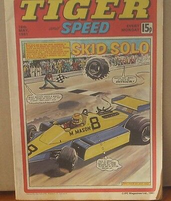TIGER and SPEED comic 16th May 1981 Johnny Cougar Hotshot Hamish Billy's Boots