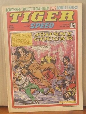 TIGER and SPEED comic 20th June 1981 Johnny Cougar Hotshot Hamish Billy's Boots