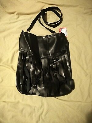 BNWT Leather-Look PVC Rock Chick Shoulder Bag - goth/metal/punk