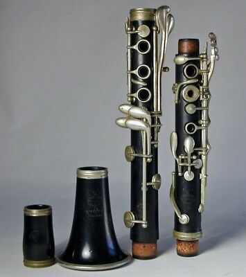 19th Century Buffet Crampon C Clarinet Paris France W. H. Cundy Boston Humphrey