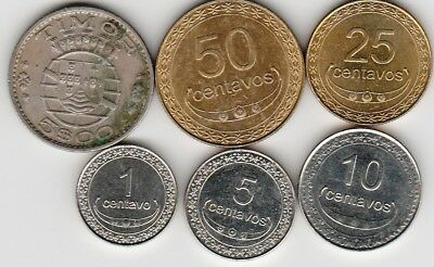 6 different world coins from TIMOR