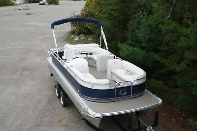 23 GT Cruise pontoon boat with 75 four stroke - dual bunk trailer