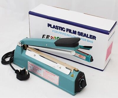 "8""/20CM/200MM IMPULSE HEAT SEALER WITH STRONGER SEALING 10mm WIDTH+DATE STAMPER"