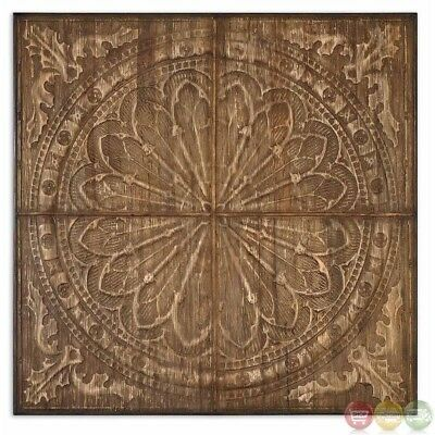 Camillus Gothic Cathedral Architecture Rose Window Wood Wall Art 13780