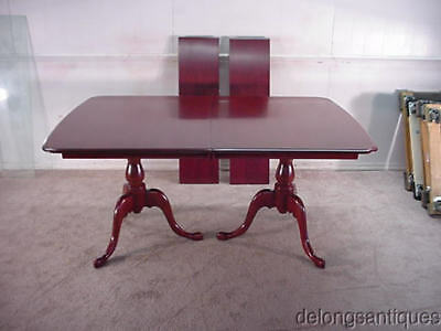 16996:Colonial Furniture Brand New Solid Cherry Double Pedestal Dining Table