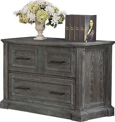 Gramercy Park Rustic Lateral File Cabinet in Vintage Burnished Smoke