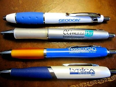 Lot 4 Drug Rep Pens Pharmaceutical Medical