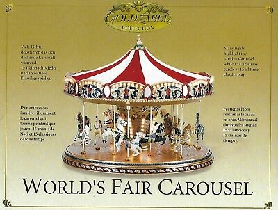 Worlds Fair Carousel Mr. Christmas Gold Label  30 Songs 2003 ~ NEW IN BOX