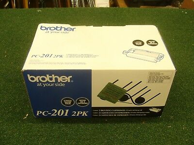 NEW - Genuine Brother PC-201  2pk Fax Printing Cartridge FREE SHIPPING