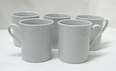 ONE of 5 avail.  DANSK Lierre Lauvage Sauvage White Ivy Limoges France Mugs EUC