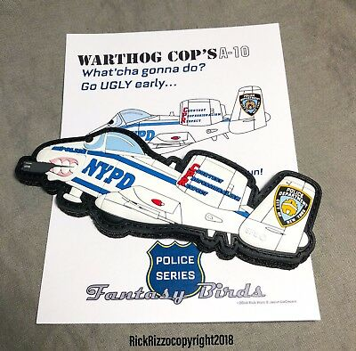 A-10 NYPD Fun Patch in PVC 5 inches long!  only 100 made