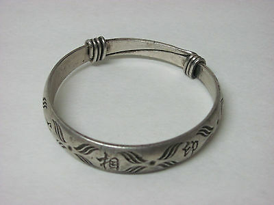 Fine Old Chinese Silver Bracelet with Mark